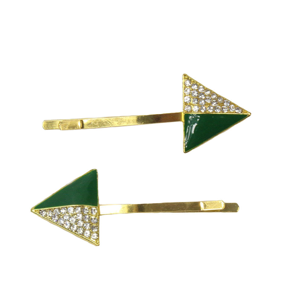 Maisie - Green Triangle Hair Slides