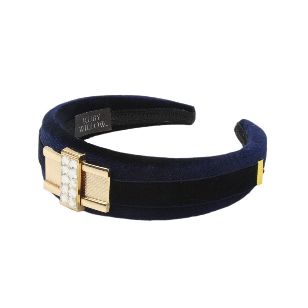 Tamsin - Navy Diamante Buckle Hairband