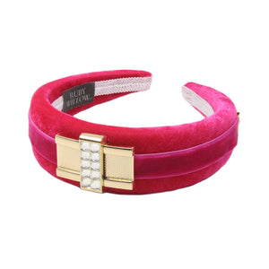 Tamsin - Pink Diamante Buckle Hairband