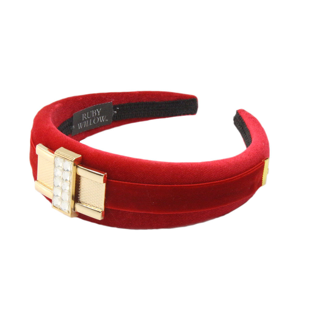 Tamsin - Red Diamante Buckle Hairband