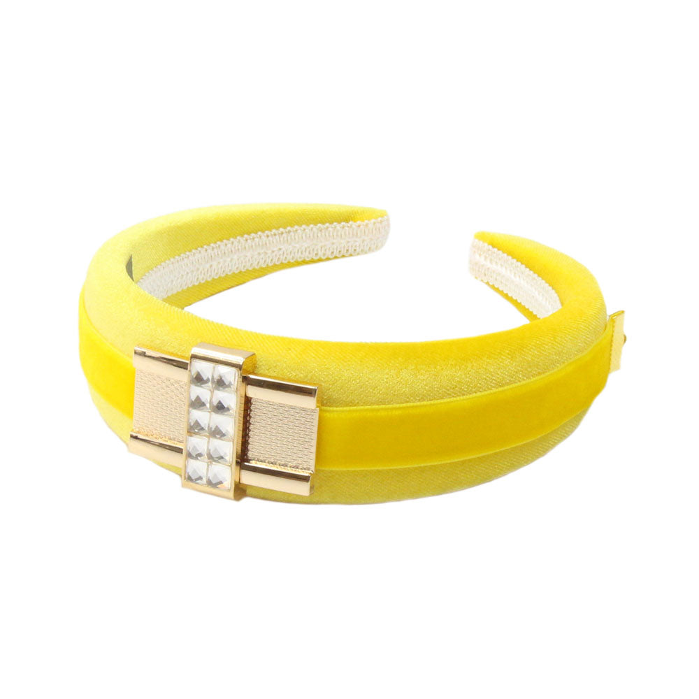 Tamsin - Yellow Diamante Buckle Hairband