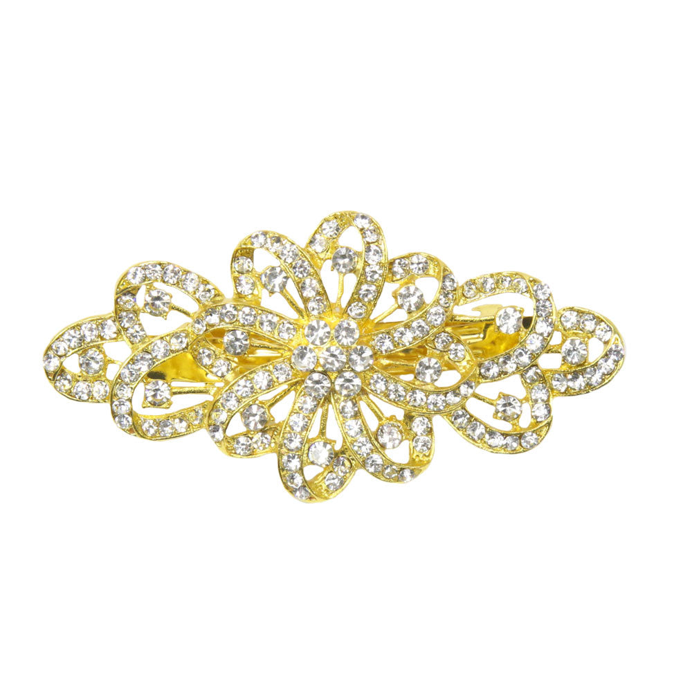 Tilly - Gold Crystal Large Barrette