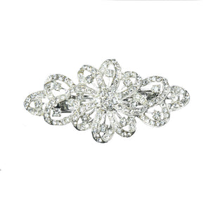 Tilly - Silver Crystal Large Barrette