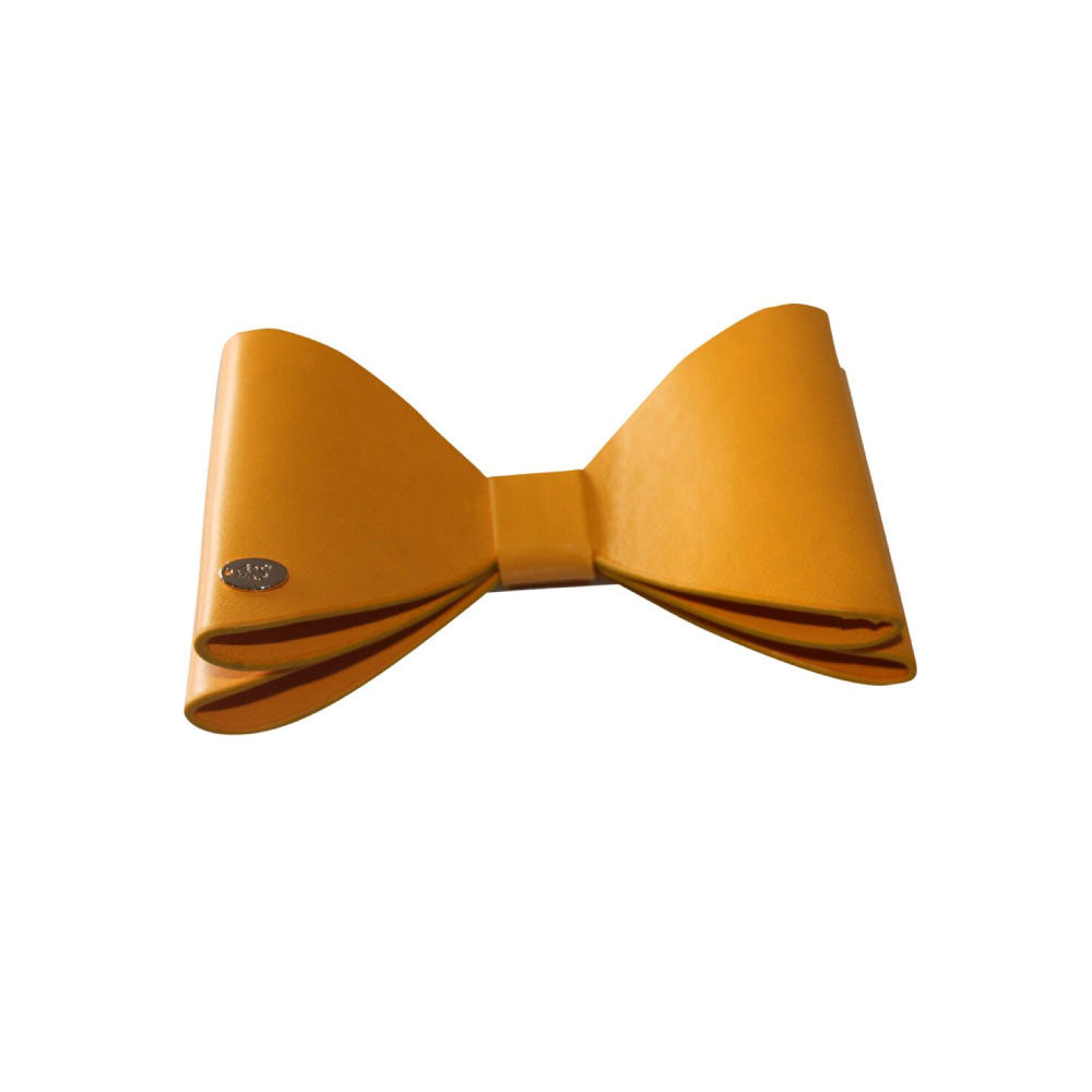 Panache - Mustard Leather Bow