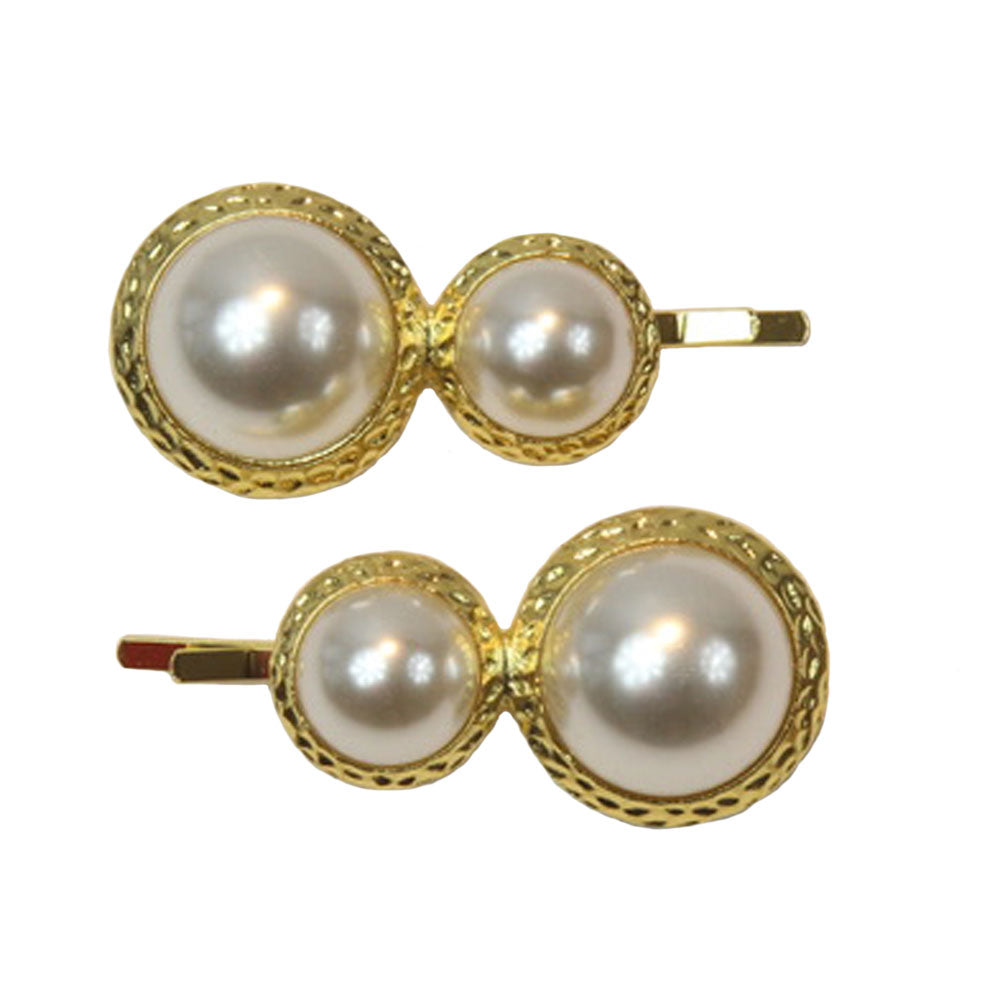 Evie - White Pearl Hair Slides