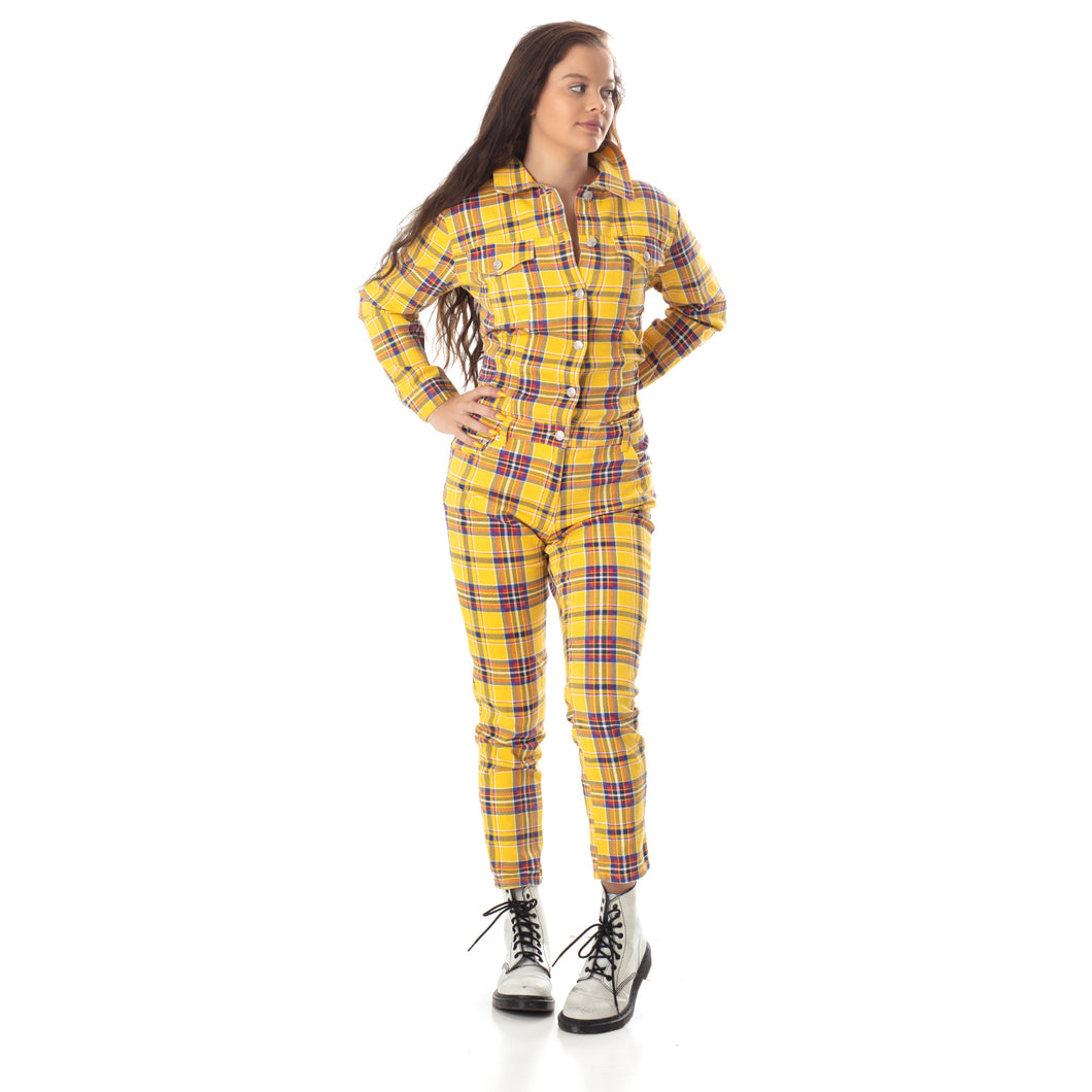 Mad About Plaid Jumpsuit