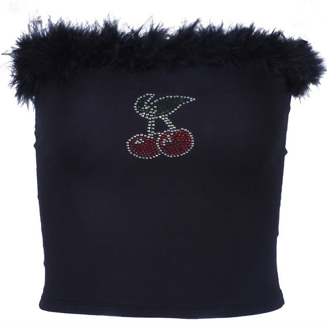 Bedazzled Cherry Tube Top