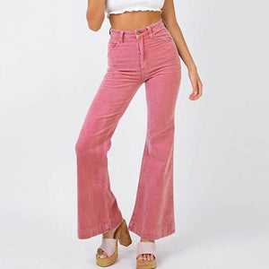 High Waisted Corduroy Flare Pants