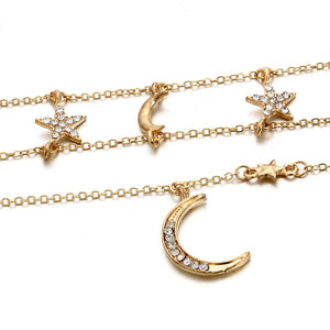 To The Moon Pendant Statement Choker