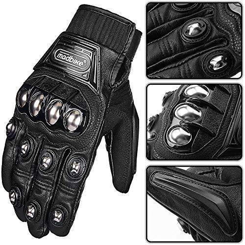 ILM Alloy Steel Bicycle Motorcycle Motorbike Powersports Racing Touchscreen Gloves (M, BLUE)