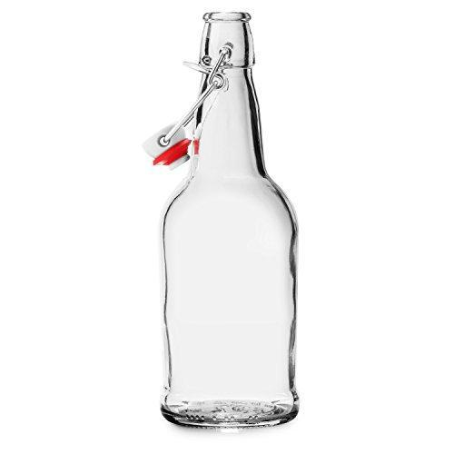 Chef's Star CASE of 6-16 oz. Easy Cap Beer Bottles - Clear