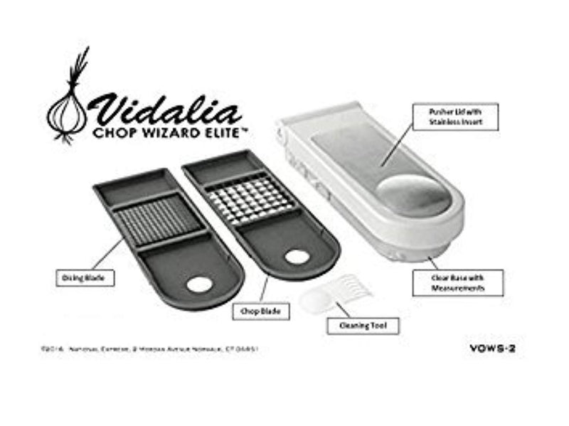 Vidalia Chop Wizard  The Original Elite - 30% More Chopping/Dicing Area Than Other Brands