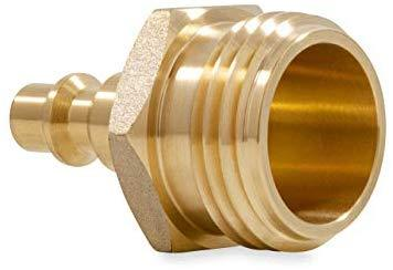 Camco Heavy Duty Brass Blow Out Plug - Helps Clear the Water Lines in Your RV During Winterization and Dewinterization (36153)