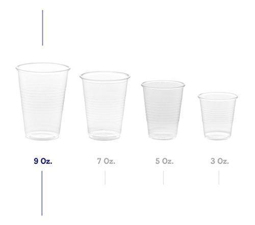 Zeml Disposable Clear Plastic Cups (9 oz.)