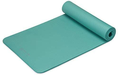 "Gaiam Essentials Thick Yoga Mat Fitness & Exercise Mat with Easy-Cinch Yoga Mat Carrier Strap (72""L x 24""W x 2/5 Inch Thick)"