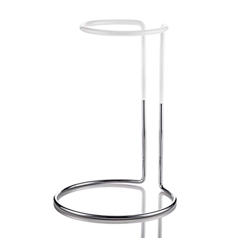 The Wine Castle Decanter Drying Stand - Beautiful Stainless Steel - For Large Bottomed Wine Decanters - Rubber Coated to Prevent Scratches