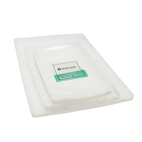 Nutri-Lock Vacuum Sealer Bags. (150 Bags) 50 Pint, 50 Quart & 50 Gallon Food Sealer Bags for FoodSaver, Sous Vide