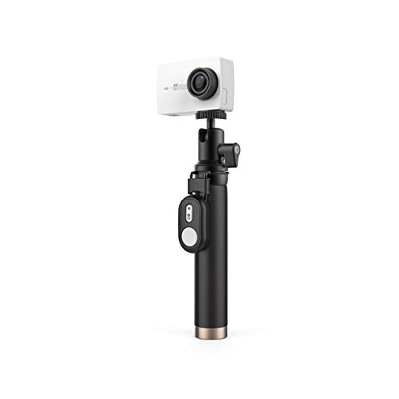 YI 4K Action and Sports Camera Selfie Stick Bundle, 4K/30fps Video 12MP Raw Image with EIS, Live Stream, Voice Control - White