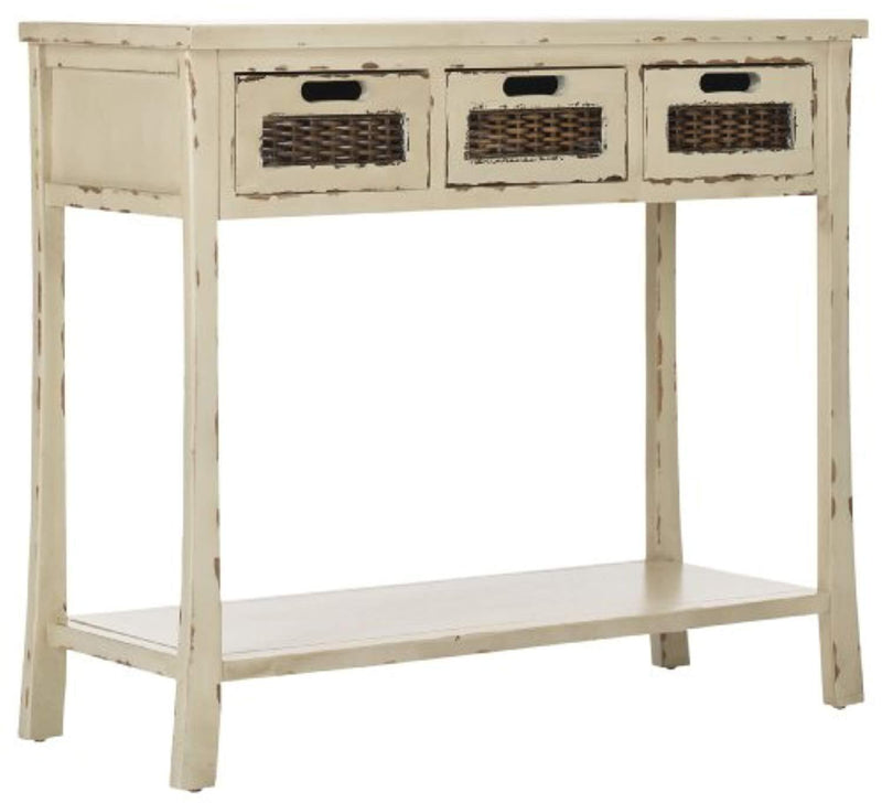 Safavieh American Homes Collection Autumn Vintage Cream 3-Drawer Console Table