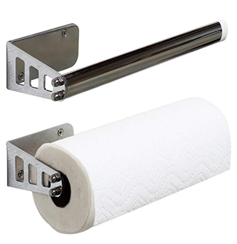 DecoBros Wall Mount Paper Towel Holder, Chrome