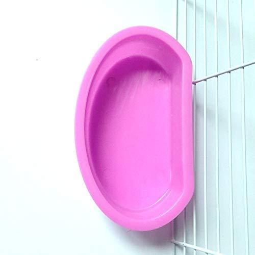 Small Animal Feeder Bowl Basic Dish Covenient Hanging Cups - 2 Pack Bath Food Water Bowls for Birds Hamsters Mice Rats Small Pets