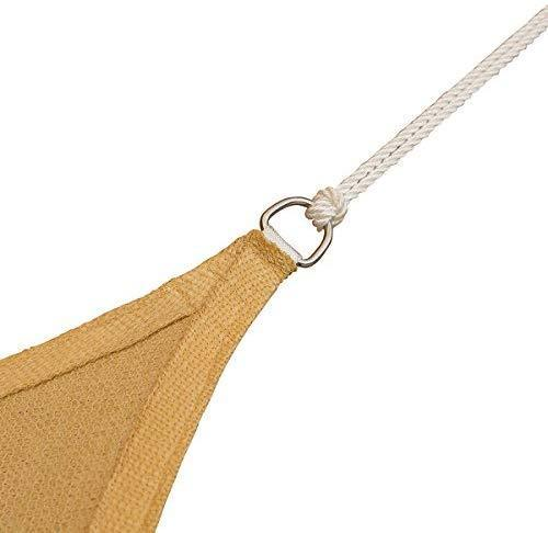COCONUT Sun Shade Sail Heavy Duty Outdoor UV Block 100% Polyester White Long Rope 1/4 Inch 50 Feet