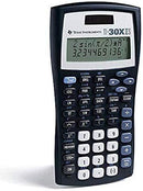 Texas Instruments TI-30X IIS 2-Line Scientific Calculator, Black with Blue Accents