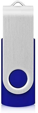 KEXIN 10 Pack 32 GB Flash Drive USB Thumb Drive 32GB USB 2.0 Drives Bulk Jump Drive Memory Stick Data Storage Pen Drive, Blue