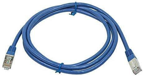Monoprice ZerobootCat6A Ethernet Patch Cable - Network Internet Cord - Zeroboot RJ45, Stranded, 550Mhz, STP, Pure Bare Copper Wire, 10G, 26AWG, 14ft, Blue