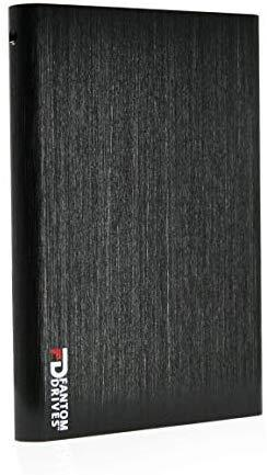 Fantom Drives 2TB Portable SSHD (Solid State Hybrid Drive) - USB 3.1 Gen 2 Type-C 10Gb/s - Black