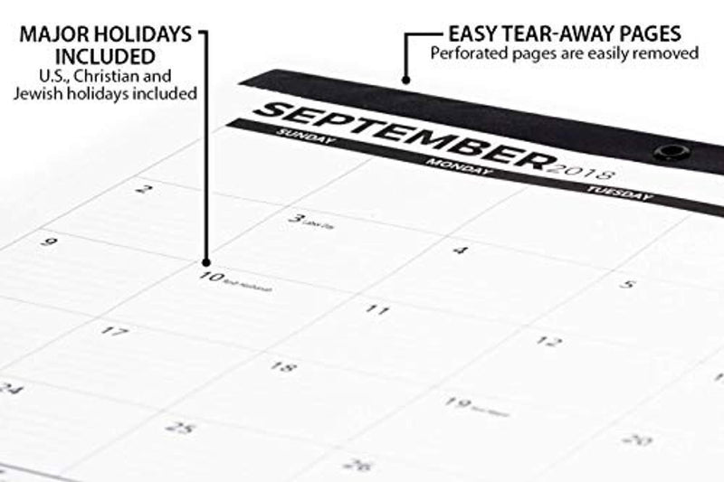 "2019 Desk Calendar or Large Wall Calendar 11"" x 17"" (Use Monthly from November 2018 to December 2019) - Medium Sized Desk Pad for Office - by Royal Mountain Print Co."