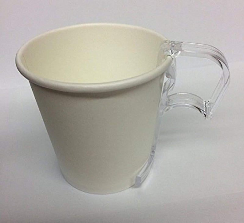 16 oz Paper Coffee Cups with lids - 100/sets- Plus 5-Clip on Cup Handles