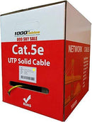 CAT5e Plenum (1000 Feet) Bulk 350MHz Networking Ethernet CMP Cable (Black)
