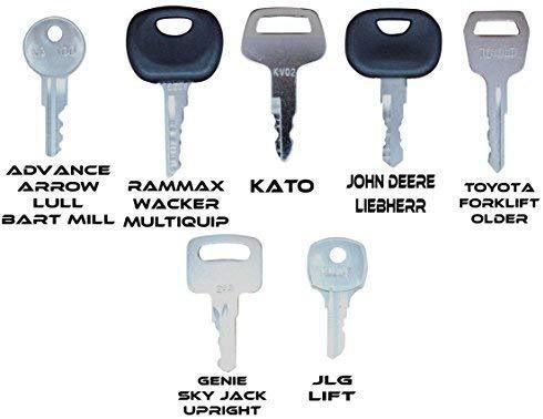 Construction Equipment Master Keys Set-Ignition Key Ring for Heavy Machines, 36 Key Set