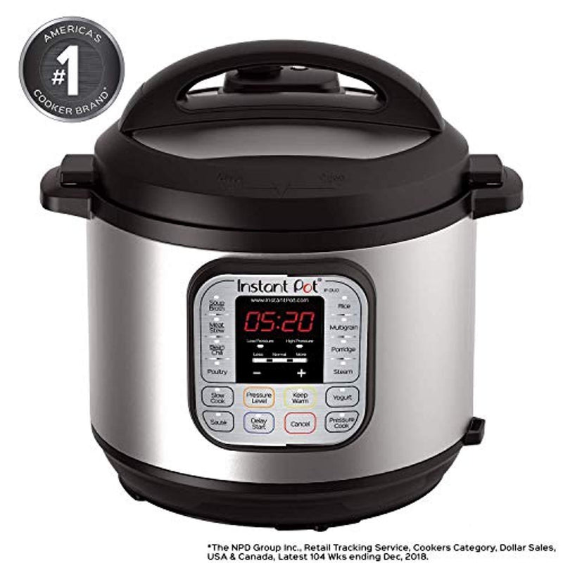 Instant Pot DUO60 6 Qt 7-in-1 Multi-Use Programmable Pressure Cooker, Slow Cooker, Rice Cooker, Steamer, Sauté, Yogurt Maker and Warmer (Certified Refurbished)