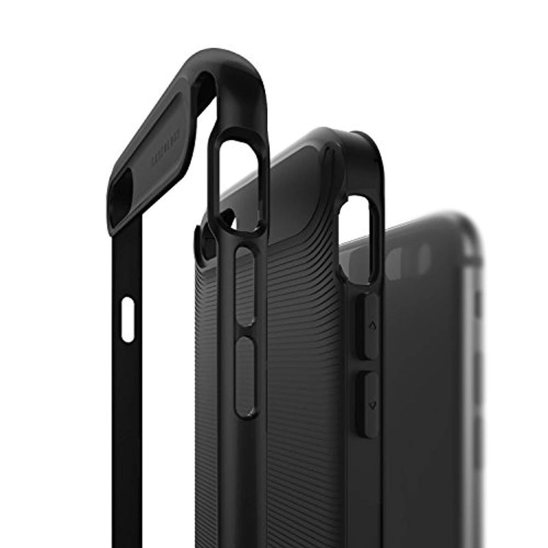 Caseology for iPhone 8 case/iPhone 7 case [Wavelength Series] - Slim Fit Dual Layer Protective Textured Grip Corner Cushion Design Case for iPhone 8 / iPhone 7 - Matte Black