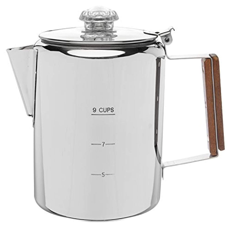 "Coletti""Bozeman"" Percolator Coffee Pot - 9 CUP Stainless Steel"