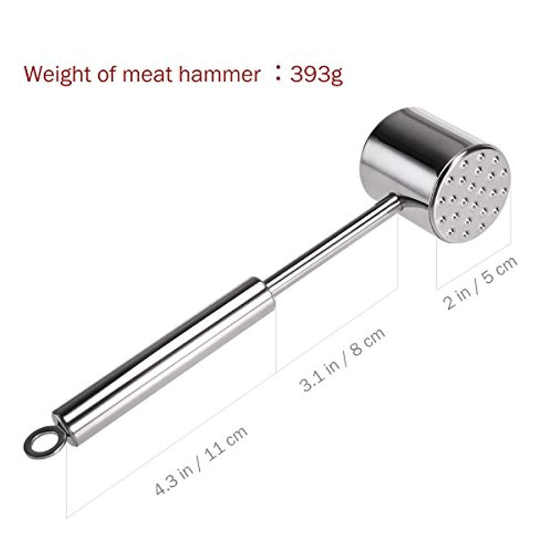 HOMEMAXS Toilet Brush and Holder, Stainless Steel and Rust-Resistant Round Bowl Toilet Scrubber Set for Bathroom Toilet