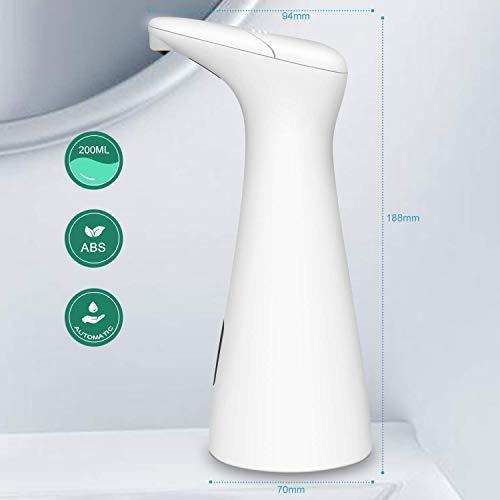 AUKUYE Hands Free Soap Dispenser Case for Bathroom and Kitchen (White)