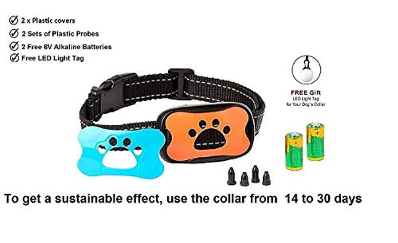 AVA Electric Dog Bark Collar Upgrade 2018 - by [Revolution Energy Controller] x2 Work Time - Vibration No Shock - No Bark Collar for Small Medium Large Dogs Best Barking Collar - Pet Safe Waterproof