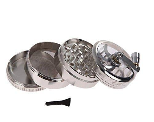 "Herb Grinder Tobacco Grinder Aluminum Herb Spice Crusher Smoking Pipes Hand Crank 2.5"" 4 Colors"