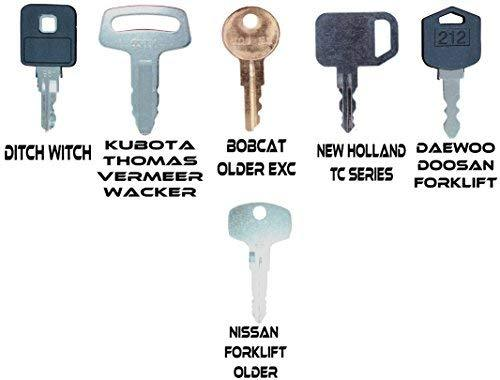 Construction Ignition Key Sets Tornado - Comes in Sets of 39, 42, 45, 52, 56, 60, for backhoes, Tools, case, cat, etc. See Product Description for More info. (60 Key Set)
