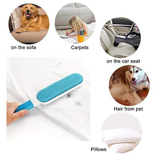 Sorinly-Pet Hair Remover -Lint Brush/Remover-Dog & Cat Hair Remover with Self-Cleaning Base - Efficient Double Sided Animal Hair Removal Tool - Perfect for Clothing, Furniture, Couch, Carpet