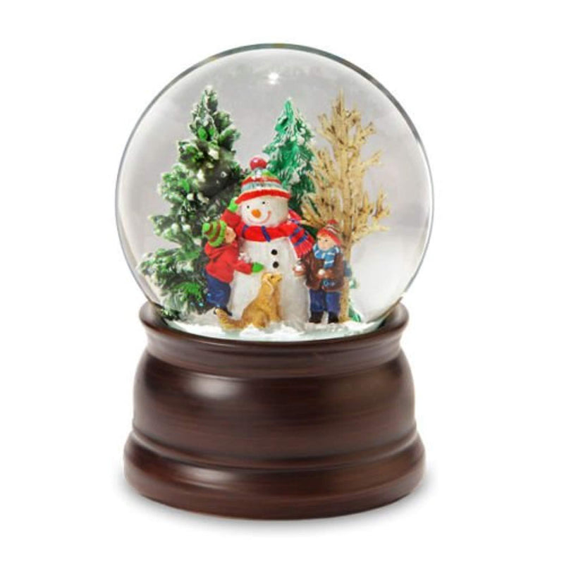 The San Francisco Music Box Company Snowman and Friends Snow Globe