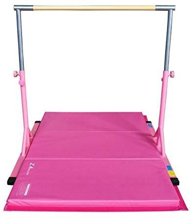 Z Athletic Adjustable Kip Bar and Gym Mat for Children's In Home Gymnastics Multiple Sizes and Colors