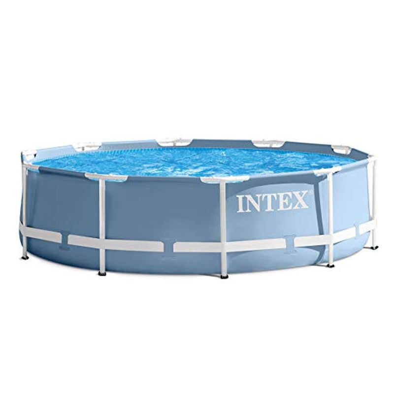 "Intex 10' x 30"" Prism Frame Above Ground Family Swimming Pool"