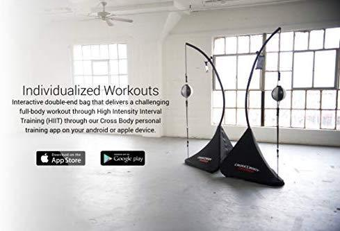 Nexersys Cross Body Trainer Interactive Double End Bag for Boxing, MMA, Fitness, Cardio, Core Strength - The Ultimate Boxing Experience, App Includes 10k HIIT Workouts and Teaches Proper Technique