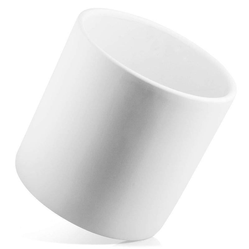 "Nodpot 10"" White Planter - Mid Century Modern Indoor/Outdoor Planters w/Out Stand - Large Plant Pots for Succulent Plants, Cactus, or Flower Pot - Decorative Ceramic Plant Holder Stands 10"" Tall"