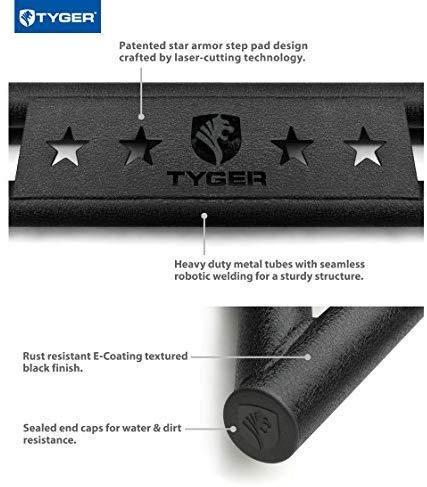 Tyger Auto TG-AM2T20018 Star Armor Kit for 2007-2020 Toyota Tundra Double Cab | Textured Black | Side Step | Nerf Bars | Running Boards
