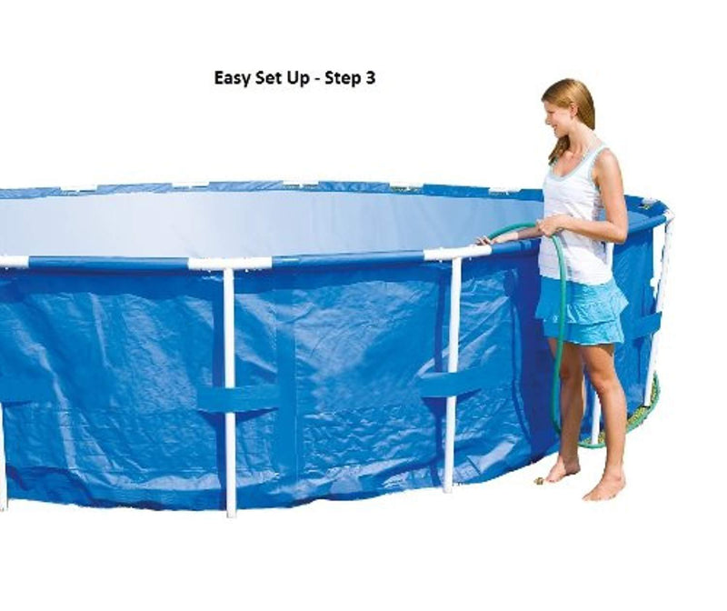 "Steel Pro 12' x 48"" Frame Pool Set"